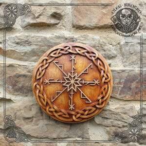 Cobra Protective Rune wood carving