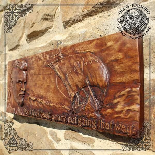 Plaque vikings drakkar norse mythology wall art
