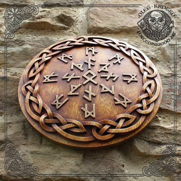 Nordic mythology wooden
