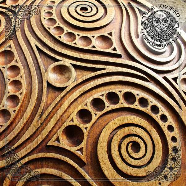 Celtic Carved wood decor