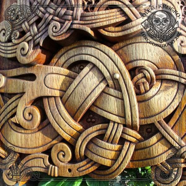 Celtic Knotwork hand carved