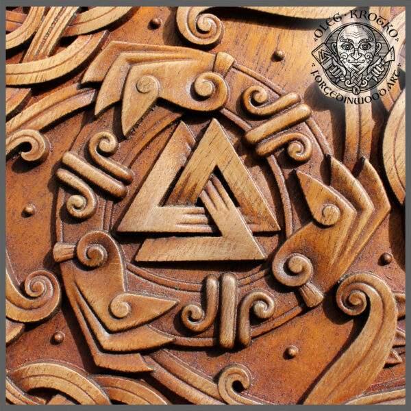 Celtic Wolves Wooden Plaque