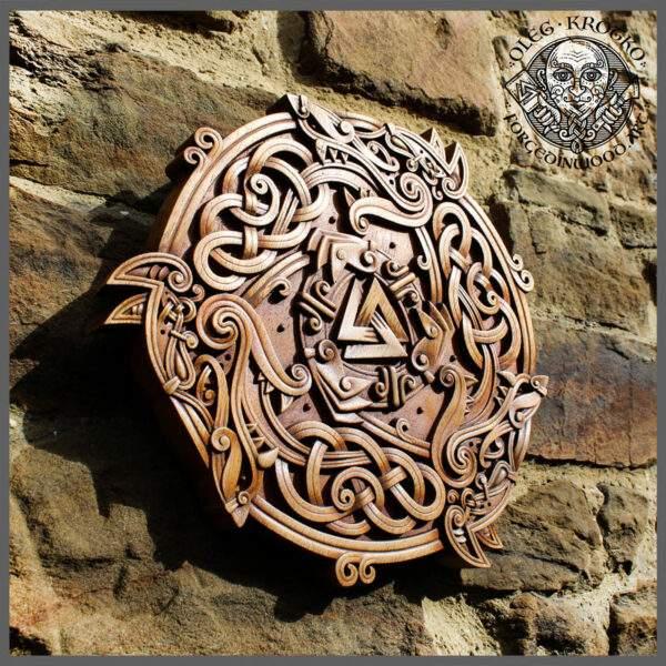 Celtic Wolves Wood Wall Design