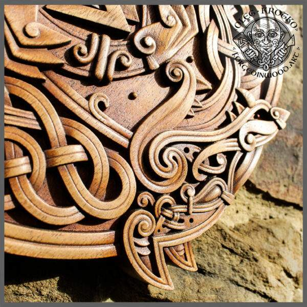 norse wood carving for sale