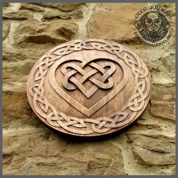 Celtic Heart ancient wood