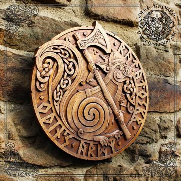 Ratatoskr god of war carving