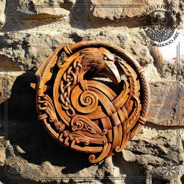 Celtic Raven Knotwork Wall Plaque