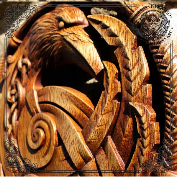 celtic raven art wall