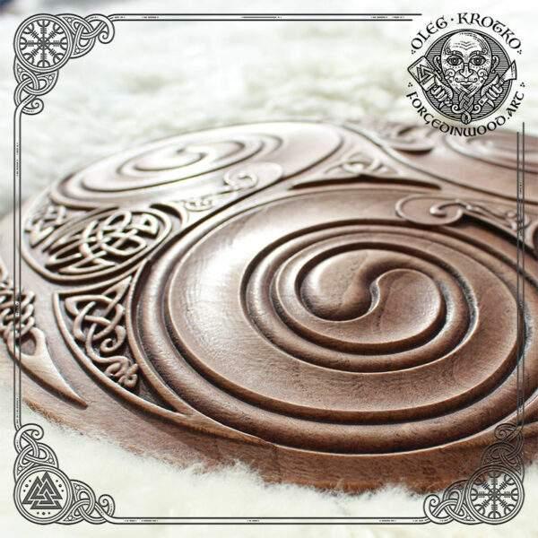 Triskelion celtic Wood Wall Art