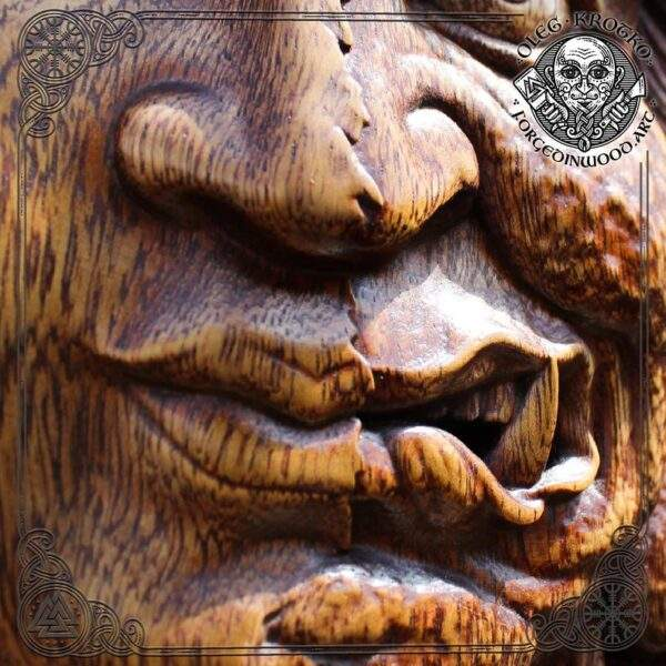 tibetan buddhism wood carved
