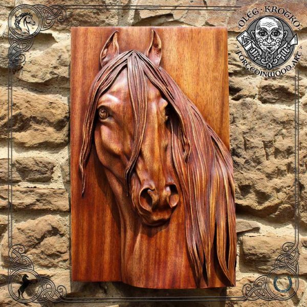 wooden horse head for sale