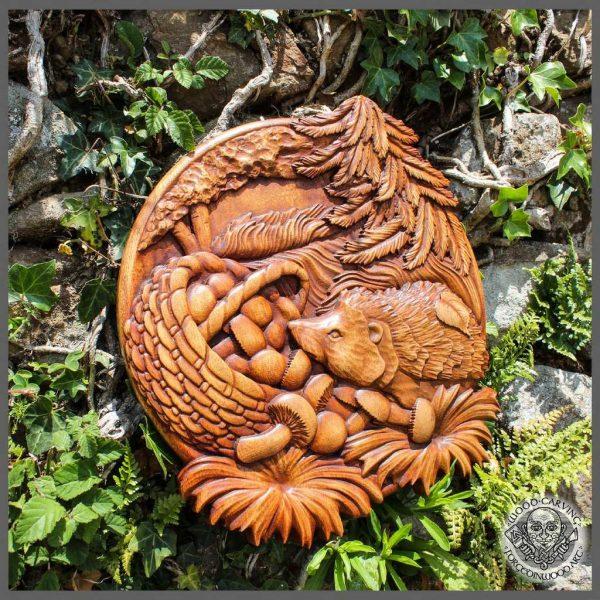Hedgehog wood carving