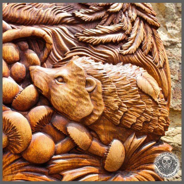 Hedgehog, Animals, wood carving