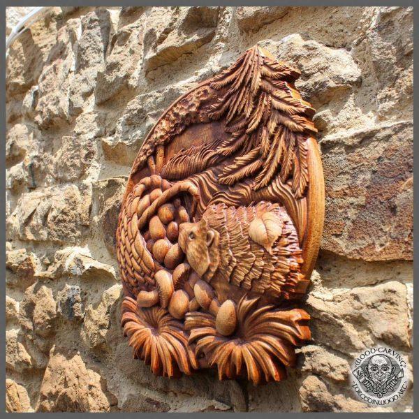 Hedgehog Wall Art Wooden