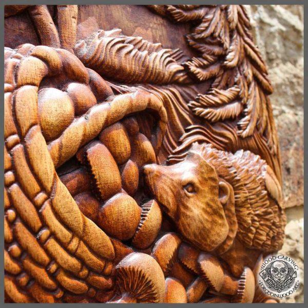Hedgehog Wood Wall Hanging