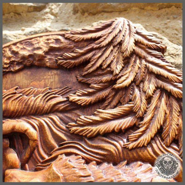 Hedgehog animal carving art wall