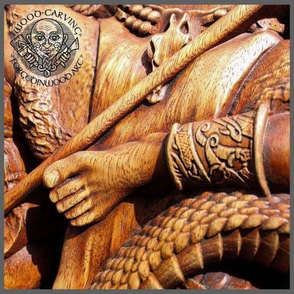 Loki mythology carving