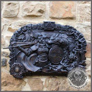 wooden plaque RAGNAROK
