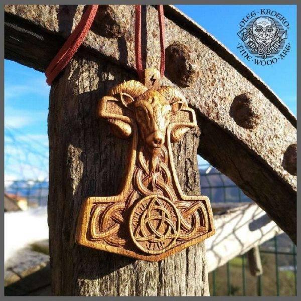 Wooden Thor Hammer pendant for sale