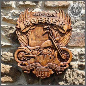 American bobber wall plaque