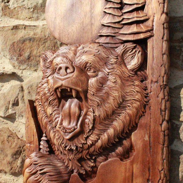 bear hand carved