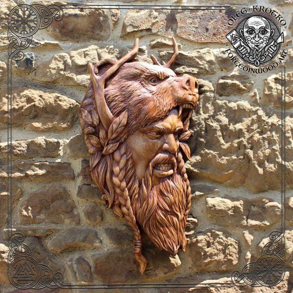 beserker norse viking carving