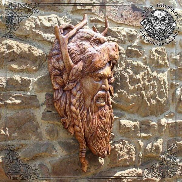 berserker wood carving