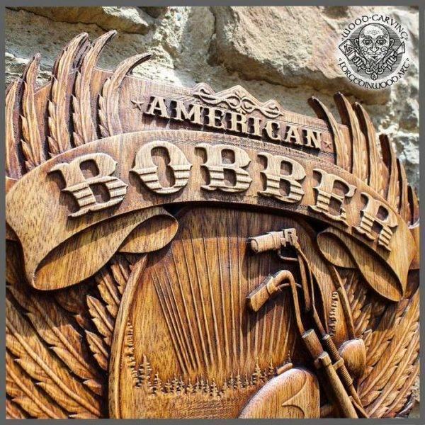 Bober Chopper American Old School wood carving