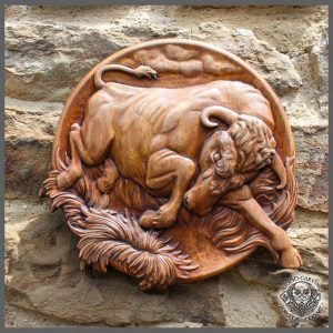 Bull han carved for sale