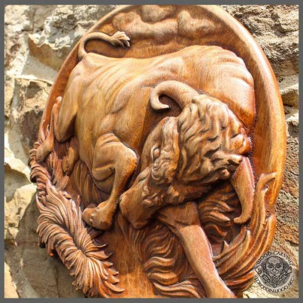 Art Wood Carving Animal Picture