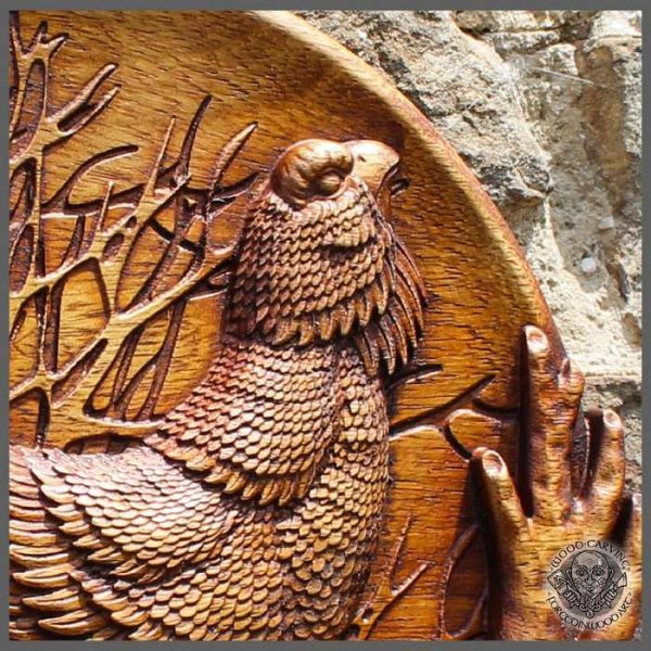 Capercaillie wood carved Wall Hanging