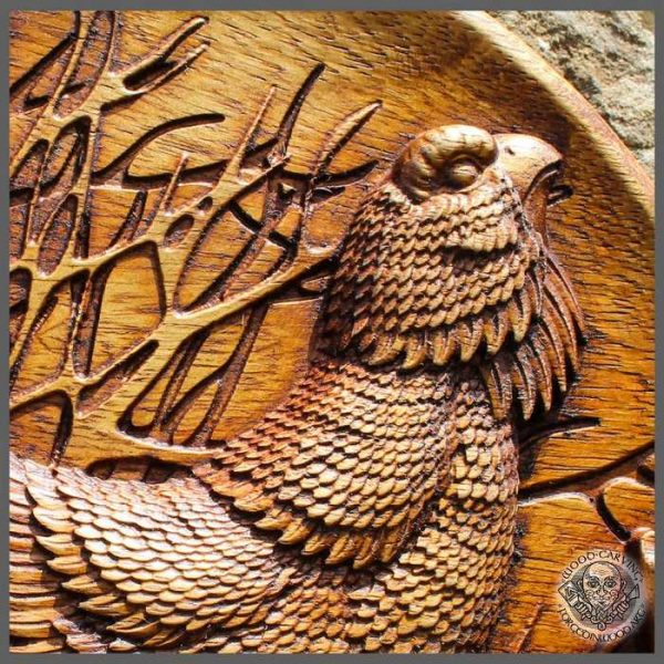 Capercaillie wood carving Wall Art