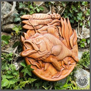 Carp Fish wood carving
