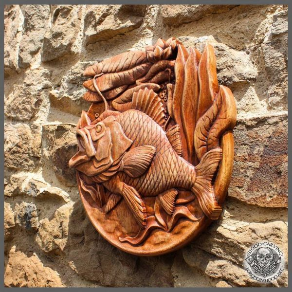 the best Fish wood carving