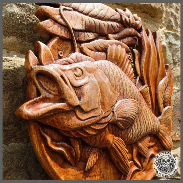 Carp Fish wooden plaque