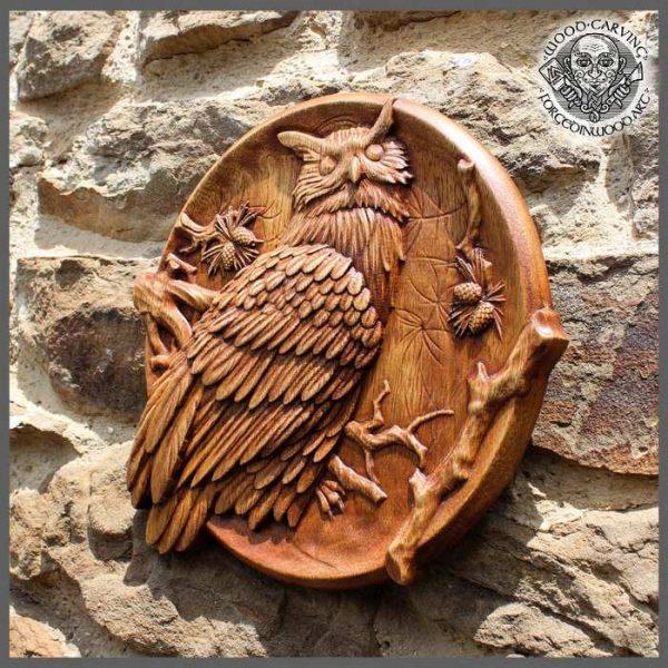 owl carvings