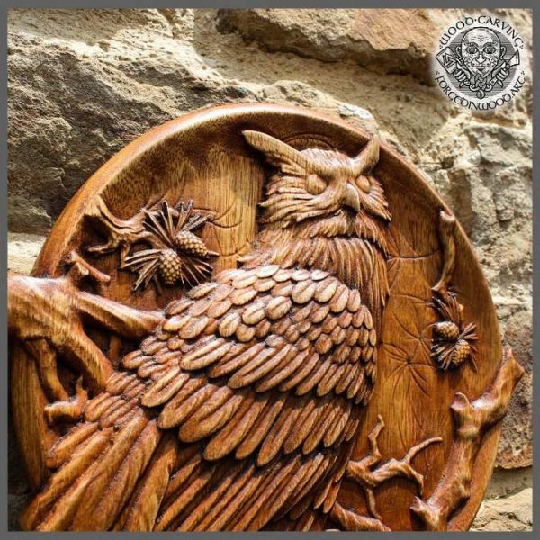 wooden owl for sale