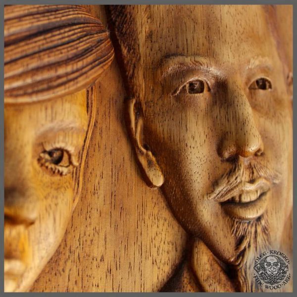 Photo wood carving