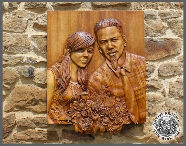 photo carving on wood