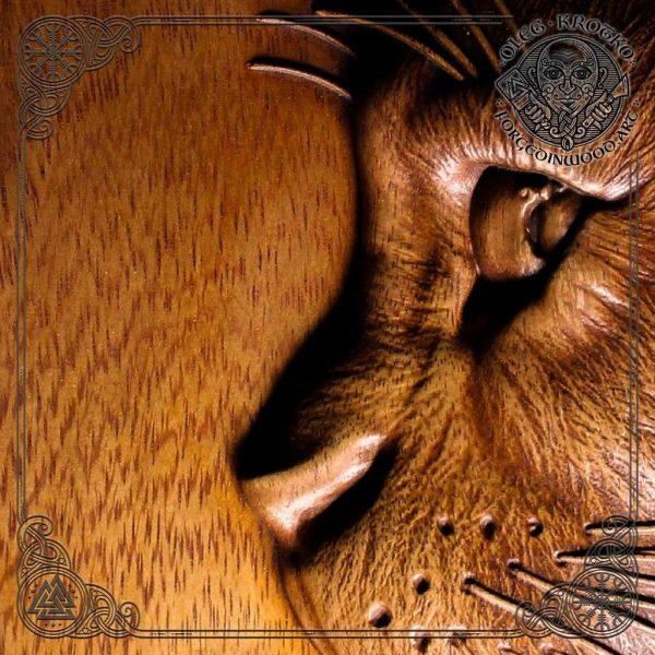 cat wood art for sale
