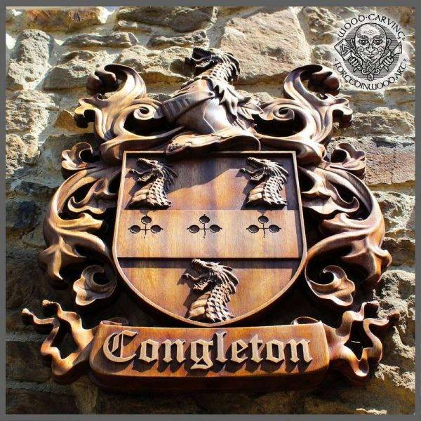 coat of arms wood carver
