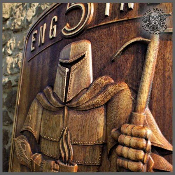 Custom order Wood carving Gift Coat of Arms