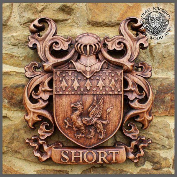 custom sculpture coat arms