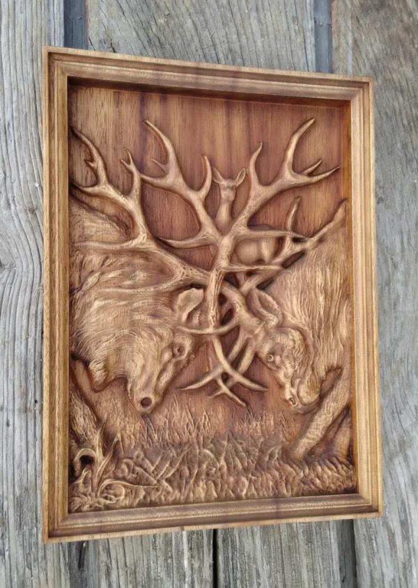 Deer Rustic Wood Wall Decor