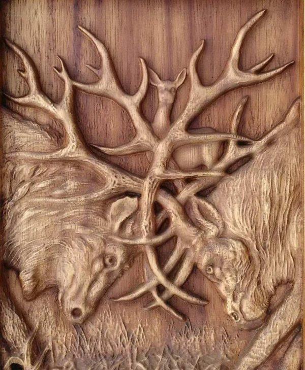 Deer WALL ART DECORATION WOOD PLAQUE