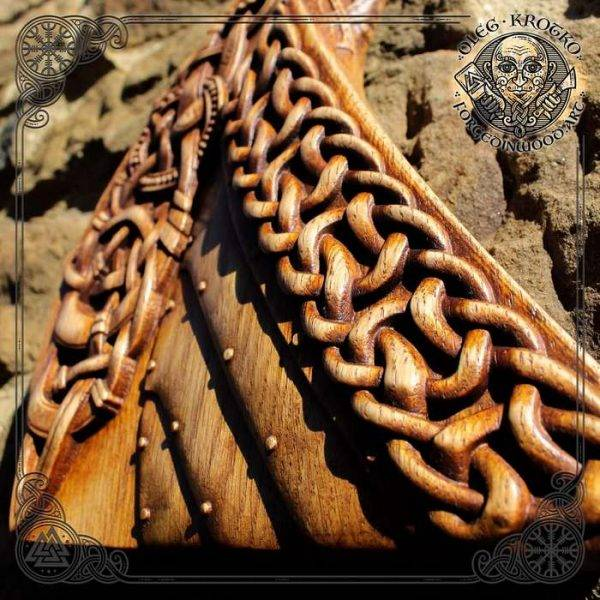 Drakkar Viking Ship wood carving