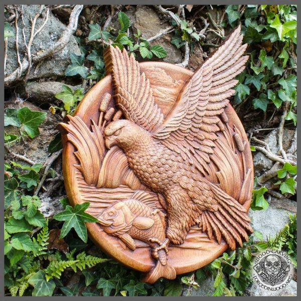 Eagle fish carving