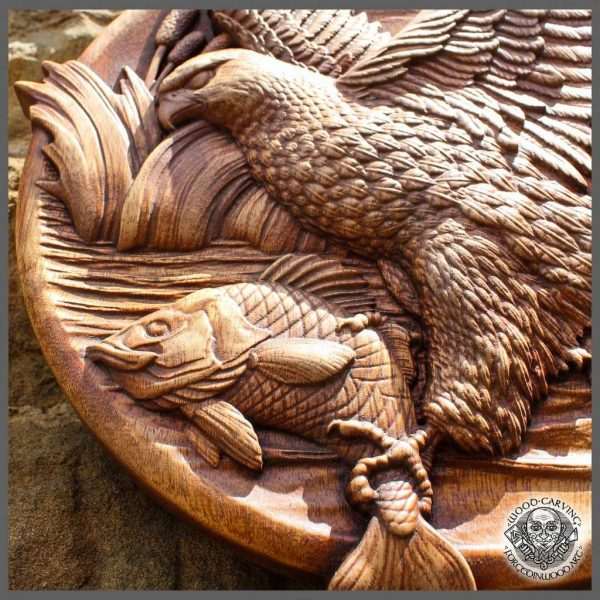 Eagle fish carving for sale