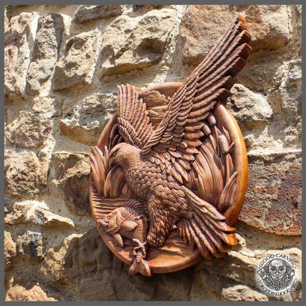 Bird Wild Life Wall Art Wood Carving