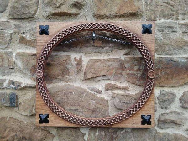 Elegant celtic wood carving frame